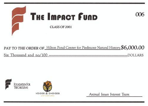 Grant check from The Impact Fund