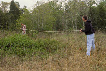 Measuring a mammal trapping grid